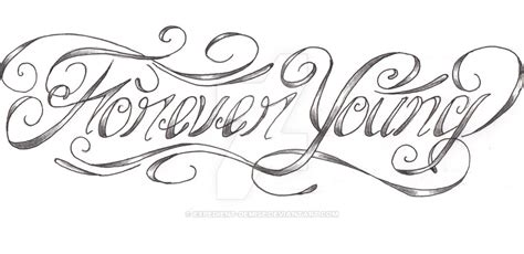 forever young custom tattoo by expedient demise on deviantart