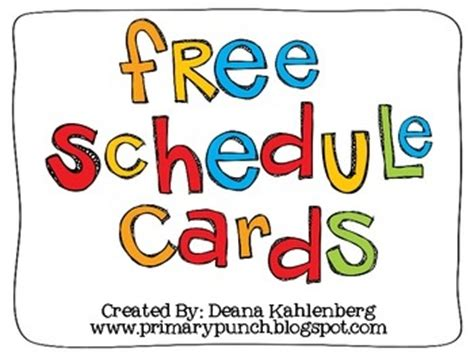 printable daily schedule cards for preschool schedule cards freebie upk preschool pinterest