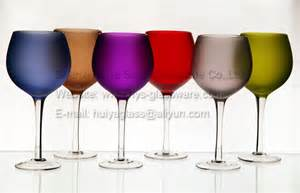 Colored Wine Glasses Spray Paint Wine Glasses Multi Color Made New