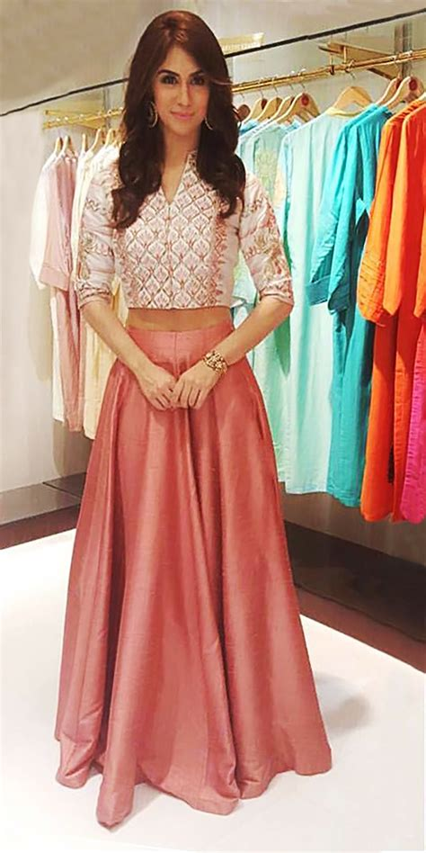 Indian Summer Lindsay Skirt Set featuring a crop top and skirt in shades of blush to wear