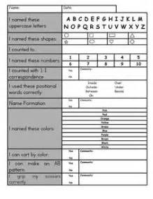 1000 ideas about preschool checklist on pinterest