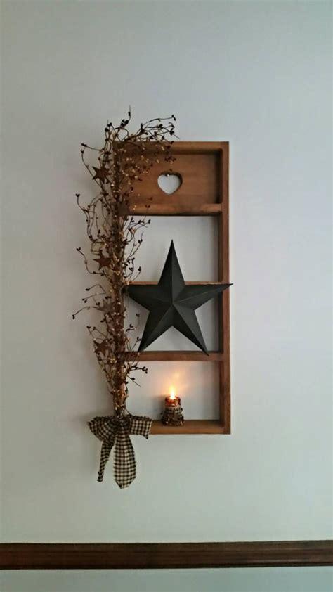 Primitive Shelf Decor large shelf decor rustic decor primitive decor lighted