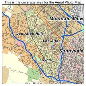 aerial photography map of los altos ca california