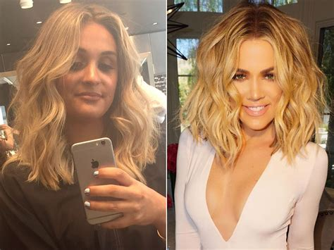 khloe kardashian dyes hair blonde photos style news we tried it khloe kardashian s colorist gave me her