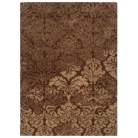 linon home decor rugs linon home decor florence collection brown and beige 5 ft