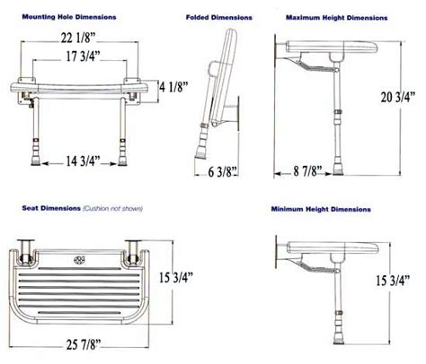 shower dimensions with bench fold up padded shower seats shower safety for those with