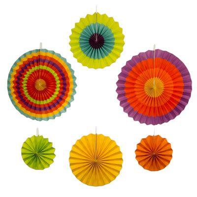 Paper Fan Uk Medium Polos Paperfan Polos new 6pc assorted paper fans cinco de mayo southwestern decorations ebay