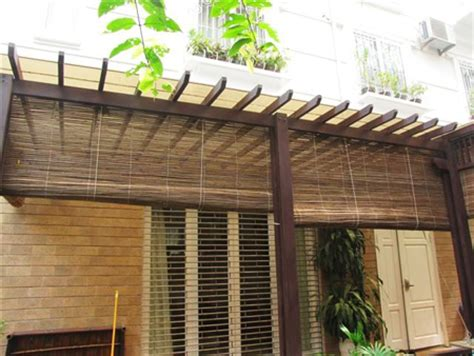 Bamboo Awnings by Tiki Bamboo Thatch