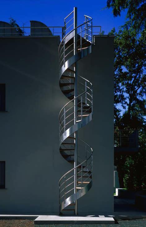 exterior spiral staircase design  metal monumental