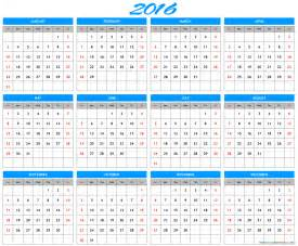 Whole Year Calendar Template by Printable Week Calendar Calendar Template 2016