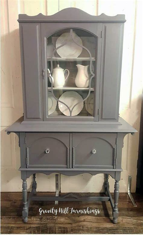 seagull gray milk paint cabinets gray two tone china cabinet general finishes design center