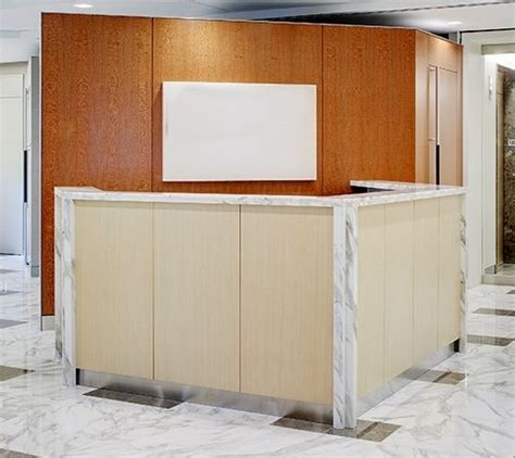 angled reception desk crafted angled reception desk with top and wood