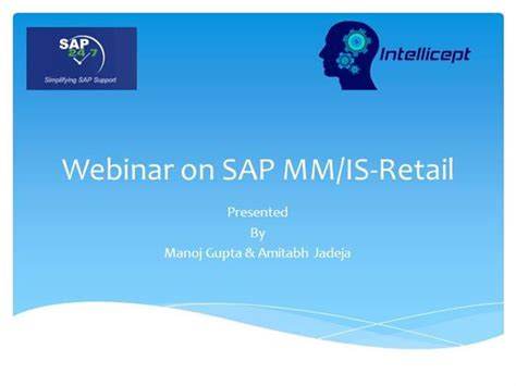 Corporate Sap Training In Sap Mm Is Retail Posdm Wm And Hana Authorstream Sap Powerpoint Template