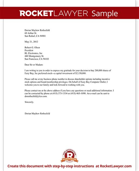 business letter template free form letter with sle