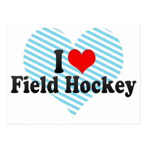 imagenes de i love hockey i love field hockey post card