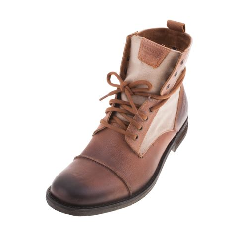 mens light brown boots levis 220905 mens gents light brown boot ebay