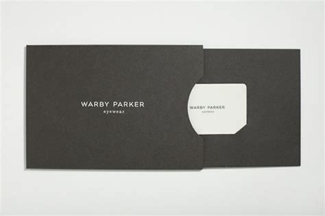 Gift Card Packaging - warby parker fashion retail stationery design pinterest