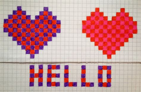 heart pattern on graph paper the imaginationbox blog creative art projects and