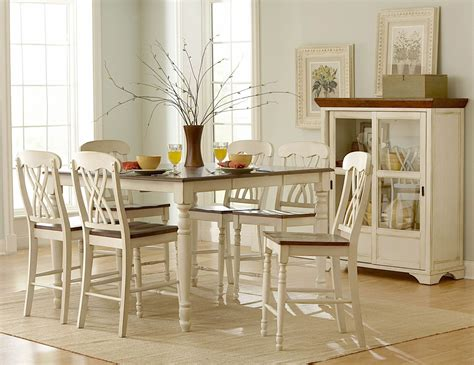 dining room sets with leaf ohana 2 tone butterfly leaf extendable counter height dining room set from homelegance 1393w 36