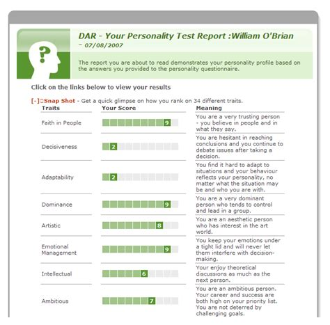 personalità test pre employment personality test tips a guide to success