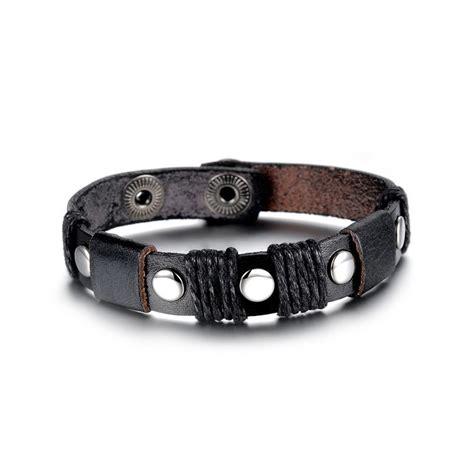 serre poignet serre poignet homme cuir noir bracelets homme