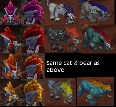 druid colors druid colors worgen druid form colors restokin