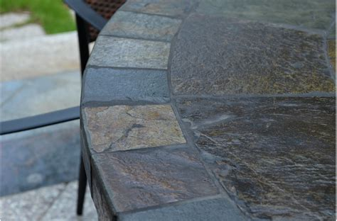 125 160cm slate patio dining table tiled mosaic oceane
