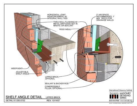 masonry layout meaning 01 030 0702 shelf angle detail lipped brick
