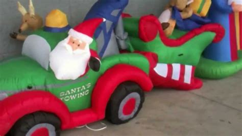 obnoxious christmas blowups toyreviews animated inflatables from lowes 2011