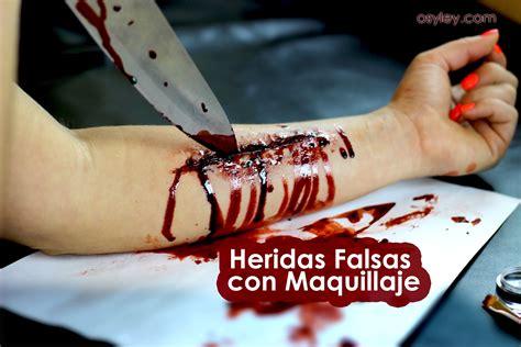 imagenes de heridas para halloween como hacer cortadas o heridas falsas con maquillaje paso a