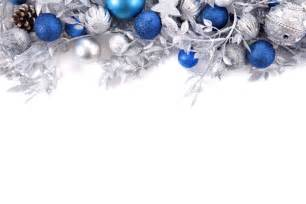 branches decoration with silver and blue christmas balls