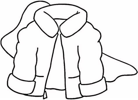 winter coat coloring page free printable coloring pages