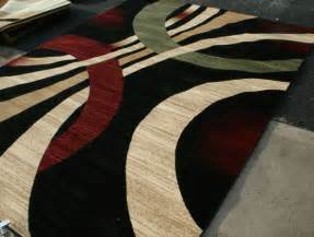 Modern Throw Rugs New City Brand New Contemporary Brown And Beige Modern Wavy Circles Area Rugs Ebay