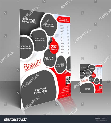 Vector Beauty Salon Price List Flyer Magazine Cover Poster Template 152349743 Shutterstock Price List Flyer Template