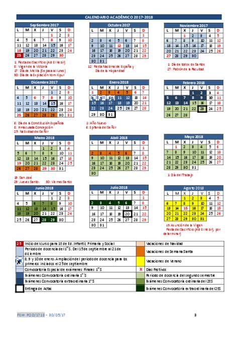 Calendario 2018 Granada Grado En Educaci 243 N Primaria Melilla Gt Calendario
