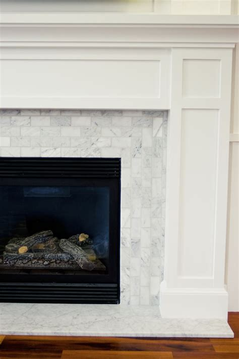 fireplace build out but with wood tile family room