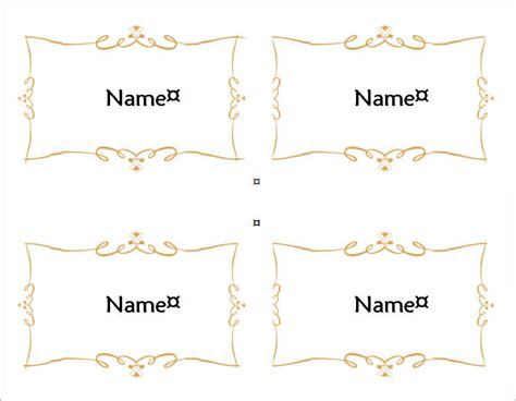 template place cards word 7 place card templates sle templates