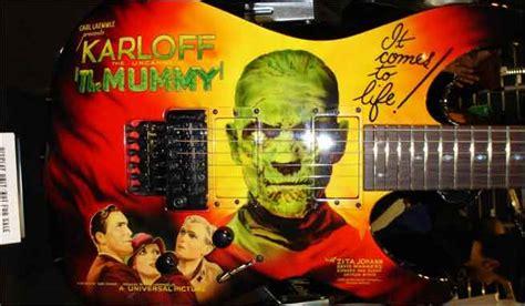 kirk hammett mummy guitar decal poster article at bleedingcool