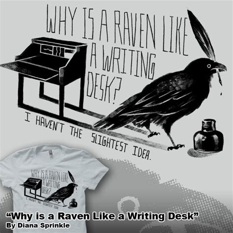 why is a raven like a writing desk tattoo why is a like a writing desk by amegoddess on deviantart