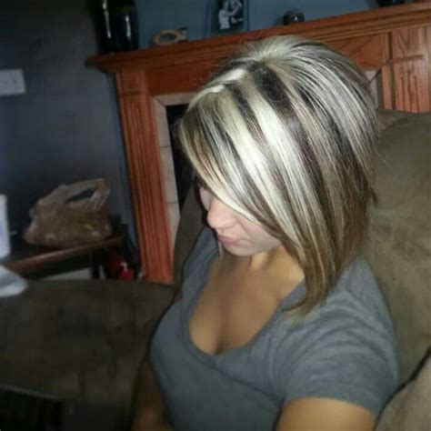 platinum highlights on dark brown hair my girlz platinum highlights things i love pinterest