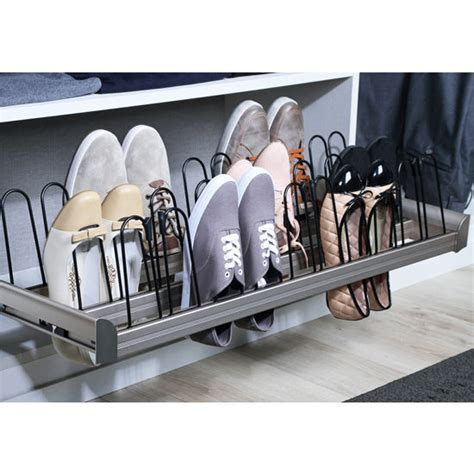 slide out shoe storage engage pull out shoe organizer with extension slides