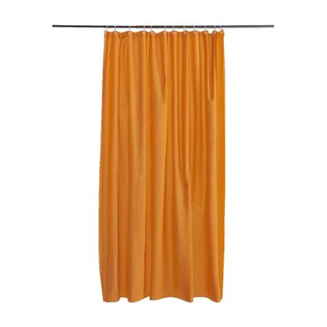 orange curtains ikea oleby shower curtain orange ikea