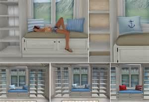 What next summer house window seat amp shelves nautical