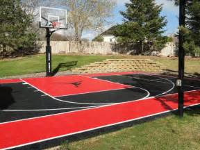 Basketball Half Court Dimensions Backyard by Diy Backyard Basketball Court Pictures To Pin On Pinterest