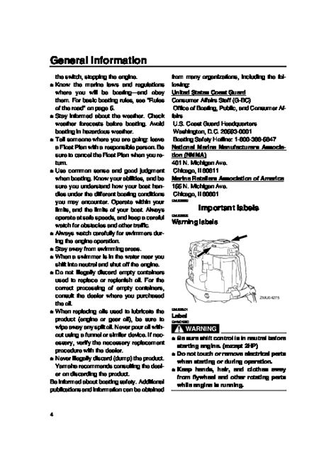 2007 Yamaha Outboard F115 Lf115 Boat Motor Owners Manual