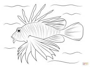 Lionfish Coloring Page Free Printable Coloring Pages Lionfish Coloring Page