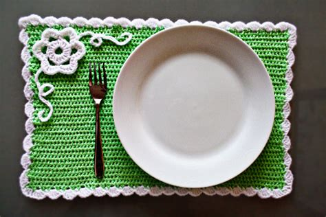 10 Minute Place Mat Pattern - free crochet placemat patterns crochet for beginners