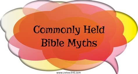 Detox Myth Skeptic by Commonly Held Bible Myths Zeteo 3 16