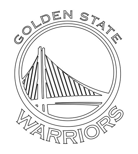 coloring pages nba warriors golden state free coloring pages