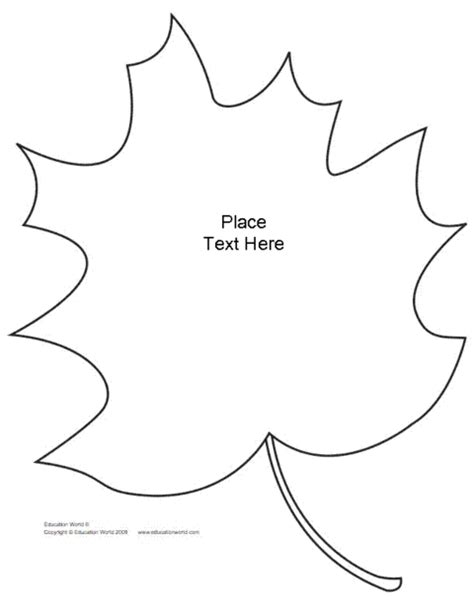 leaf shapebook unlined template pdf education world